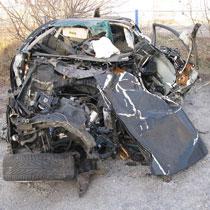 Подвійна автокатастрофа з пожежею на дніпровській трасі. Загинула людина