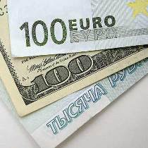 долар, євро, рубль