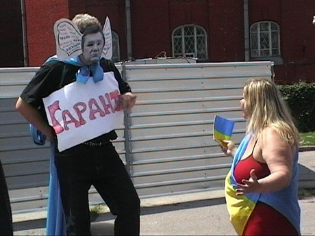 У Харкові відбулася чергова постановка аматорського спектаклю на політичні теми