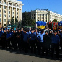 У центрі Харкова протестують проти арешту Юлії Тимошенко