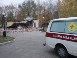 Вибух в лікарняному морзі Донецька (ФОТО, ВІДЕО)