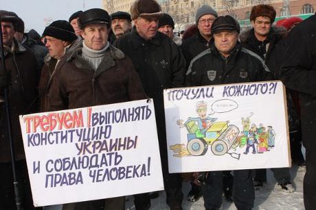 Лідера харківських чорнобильців В.Проскуріна сьогодні на світанку затримали для допиту