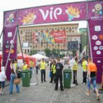 Харківську фан-зону пікетували робітники з вимогою виплатити борги по зарплаті