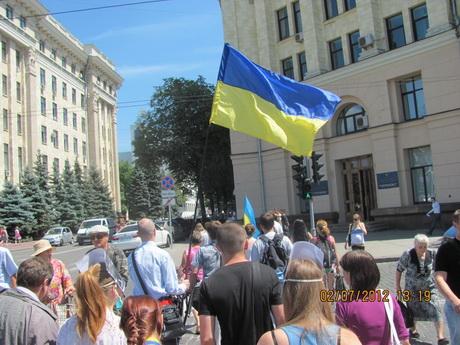 Харківці підтримали всеукраїнську акцію протесту проти мовного законопроекту № 9073