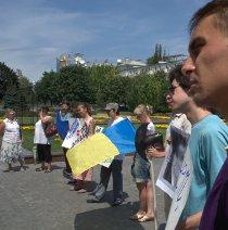 Донеччани вчора вдруге виступили проти мовного законопроекту