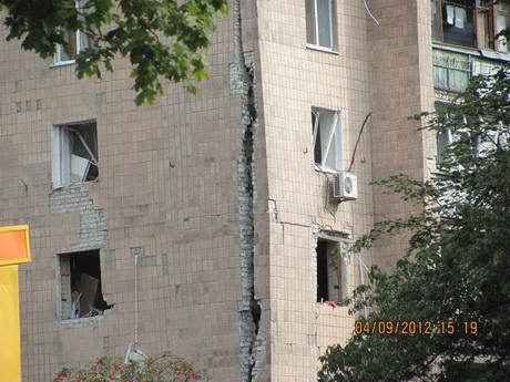 107 людей залишилися без  житла. Причини вибуху з'ясовують