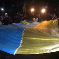 В Лозовій була проведена громадська акція до Дня Соборності України (відео)