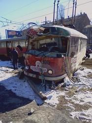 Жахливе зіткнення трамваїв в Харкові (ФОТО)
