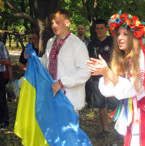 Лозівські опозиціонери провели заходи до Дня Незалежності України