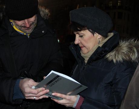 Оксана Забужко на Євромайдані: «...без європейського Харкова нема європейської України»