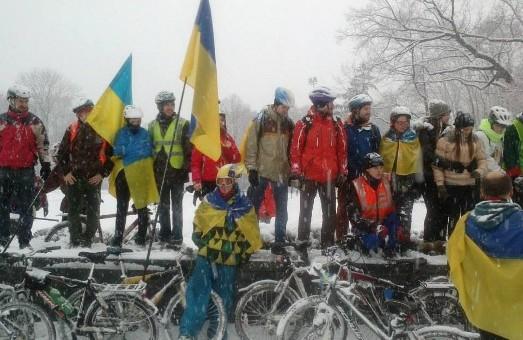 Веломайдан прорвався крізь сніги: у Харкові нова форма протесту