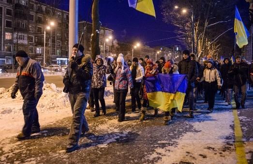 """Хода Євромайдану в Харкові: """"ультрас"""",  міліція,  """"тітушки"""".  Всі діяли за планом"""