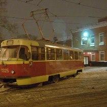 трамвай у депо