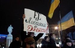 Мітингу опозиції  в Донецьку заважали під вікнами прокуратури
