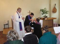 Єпископ В'ячеслав та пастор Ніл 8755 - ті ж та пастир Віктор. Єпископ В'ячеслав, пастор Ніл та пастир Віктор.