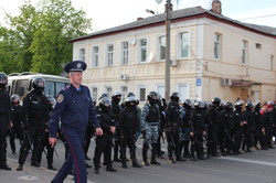 Марш за участі ультрас був атакований проросійськими силами (фото)
