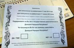 У Донецьку знищили бюлетені для незаконного проведення референдуму