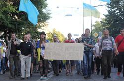 Віче у Харкові: заклики до люстрації та співи під консульством Росії
