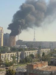 У Харкові загорівся дах новобудови (ФОТО, ВІДЕО)