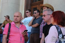 «Захистимо рідний Харків»: майданівці влаштували пікет біля ОДА