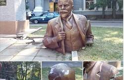 """""""Ґуд бай, Ленін"""". У Харкові невідомі пошкодили два пам'ятники"""