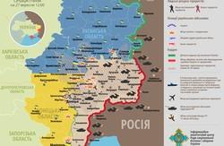 Обстріл навколо Дебальцеве та аеропорту Донецька. Карта АТО за 27 вересня