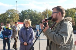В Харкові на місці пам'ятника Леніну встановлено хрест