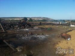 Дмитрівка. Військовий табір після обстрілу