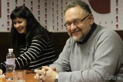 В книгарні «Є» презентували свої нові книги Ольга Деркачова та Володимир Єшкілєв (фото)
