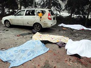 Трагічні будні Донецька: в черзі за гуманітарною допомогою загинули люди (відео 18 !)