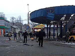 """Донецька автостанція """"Центр"""" потрапила під обстріл. Є поранені і загиблі (фото, відео)"""