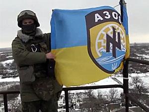 """""""Азов"""" розгромив ворожу колону під селом Саханки (відео)"""