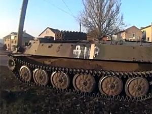"""Бойовики """"ДНР"""" на повному ходу врізалися в стовп в центрі Донецька (фото, відео)"""