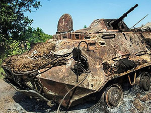 У Луганській області активно здають на металобрухт пошкоджену в бою техніку