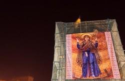 Постамент Леніна на пл. Свободи закрили іконою (фото)