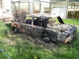 Житель Харківщини згорів у власній автівці (фото)
