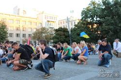 Під час святкового мітингу харків'яни вшанували загиблих героїв