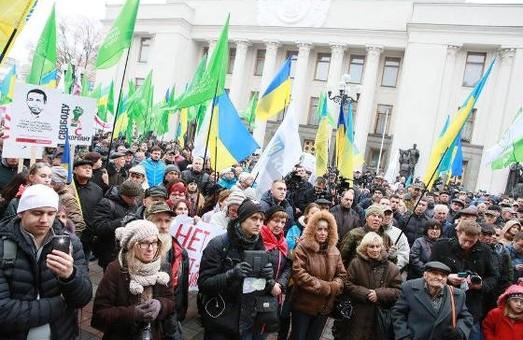 у Києві біля стін ВР підтримують Корбана