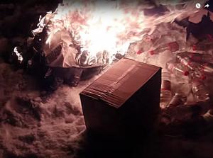 У Харкові на пр. Людвіга Свободи невідомі підпалили кіоск (відео)