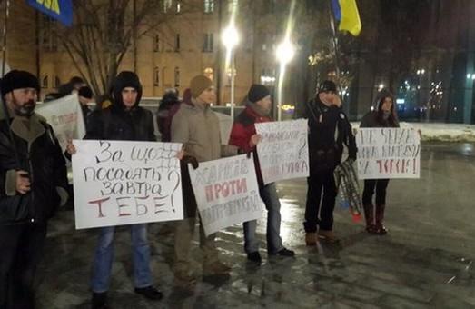 На площі Конституції активісти влаштували мітинг