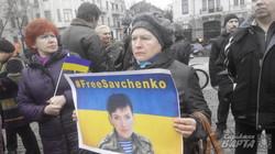 «Свободу Надії Савченко»: як у Харкові підтримали українську військовополонену (фото)