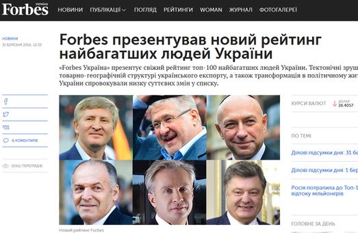 До топ-10 українських багатіїв потрапив один харків'янин