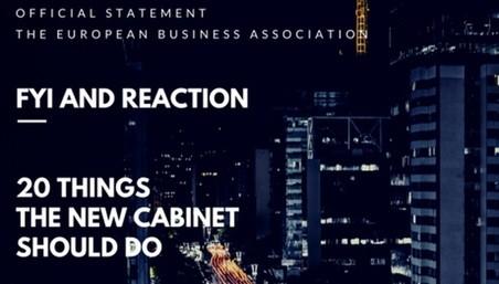Бізнес-спільнота чекає від нового уряду двадцять звершень
