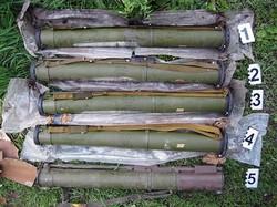 На Харківщині знайшли схованку гранатометів (відео)