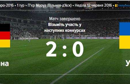 Німеччина-Україна 2:0. Українська збірна провела перший матч на Євро 2016 і отримала подяку від Порошенка