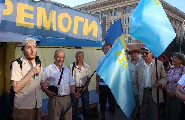 Харків'яни вшанували День кримськотатарського прапору