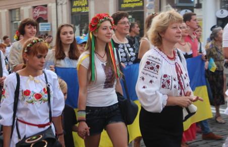 «Одна, єдина, соборна Україна». В Харкові відбувся марш вишиванок