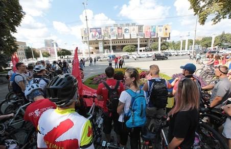Велопробіг «Українці в Європі» прокотився центром Харкова