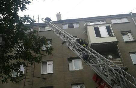 У центрі Харкова до ранку гасили пожежу