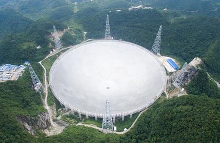 У Китаї запрацювати радіотелескоп розміром з тридцять футбольних полів